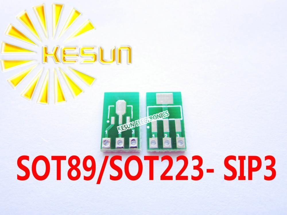 FREE SHIPPING 100PCS SOT89 SOT223 turn SIP3 DIP 1.5/2.3 Pitch Zener Diode MOS Transistor IC adapter Socket/Adapter plate PCB