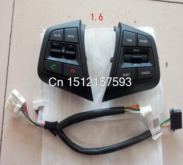 3ee2160fc8 Para Hyundai ix25 1.6L Botões de Controle de Cruzeiro Volante Botão de  Volume do canal de Controle Remoto Bluetooth Do Telefone creta em Parafusos  de ...