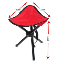 Outdoor Traveling Camping Tripod Folding Stool Chair Foldable Fishing Chairs Portable Fishing Mate Fold Metal Chair