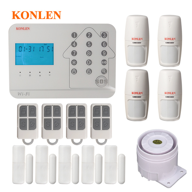 konlen wifi gsm pstn smart home security alarm system for house safe rh aliexpress com how to wire a large house for wifi wiring home for wifi