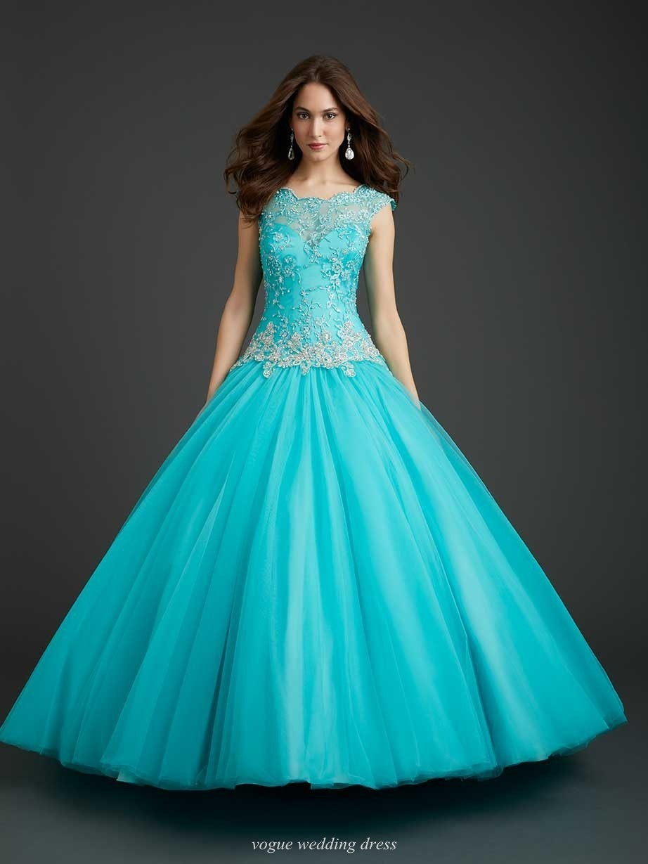 Quincenera Dresses Light Teal