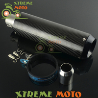 38-51 MM de Fibra de Carbono Universal Exhaust Muffler Pipe Slip Con Calle Bici de La Motocicleta Dirt Bike ATV Stooter Quad