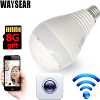 LED Bulb Light with 360 degree WiFi LED Bulb wifi Camera Panoramic Wireless IP Camera Smart Home 3D VR Camera Home Security