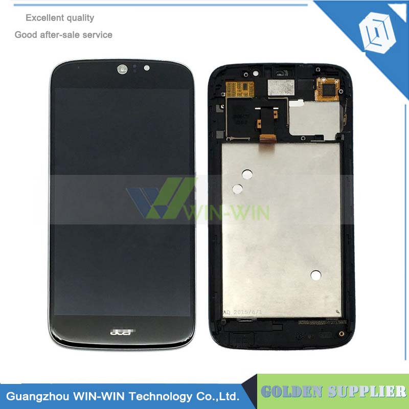 Brand New LCD Display With Touch Screen Digitizer With Frame For Acer Liquid Jade S S56 Free Shipping wholesale price for acer liquid jade s55 lcd display digitizer touch screen for acer liquid jade lcd free shipping