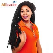 """Alileader продукты канекалон дреды крючком косы волос для Для мужчин и Для женщин 22 """"синий желтый красный поворот косу волосы"""