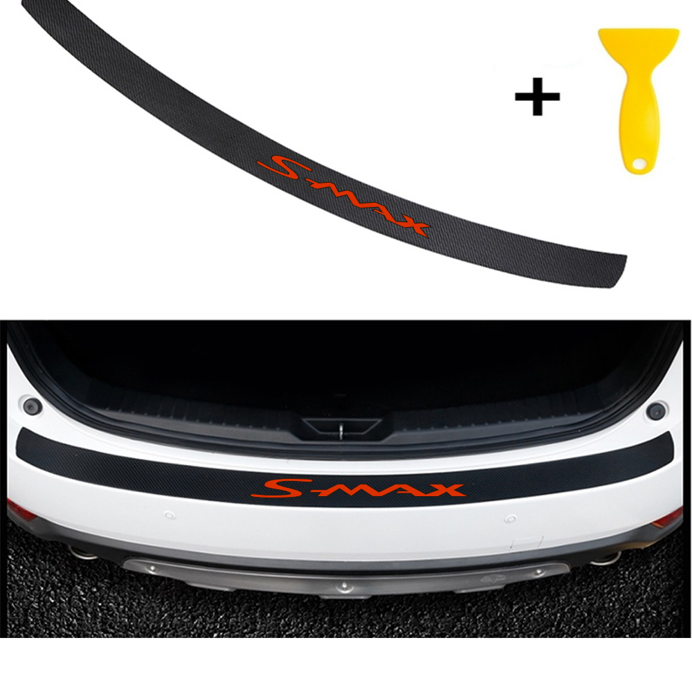 Carbon Fiber Carbon Fiber Styling After Guard Rear Bumper Trunk Guard Plate ...Car Accessories For Ford Smax S-MAX