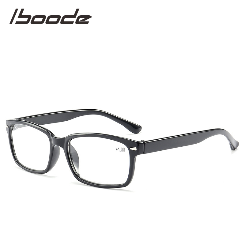 IBOODE Ultralight Square Reading Glasses Women Men Presbyopic Eyeglasses Female Male Hyperopia Eyewear Optics Diopter Spectacles