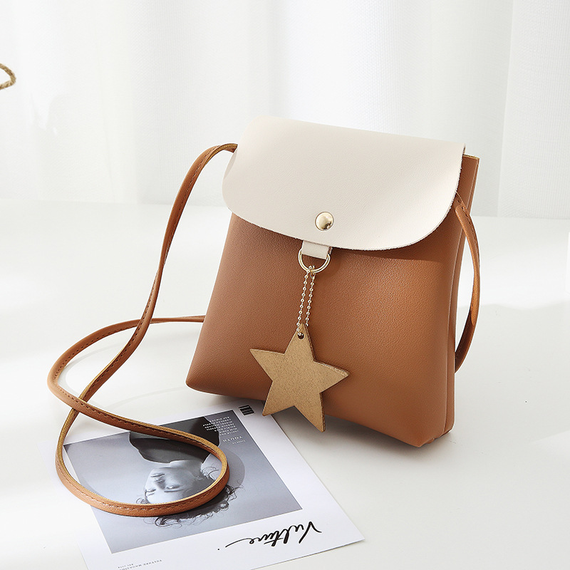 Women Shoulder Bag Pink Cute Messenger Bags Vintage Ladies Star Girls Mini Crossbody Bags 2018 PU Leather Female Bucket Bag Hot new fashion women pu leather vintage messenger bag ladies mini lock flip shoulder bag high quality girls casual crossbody bags