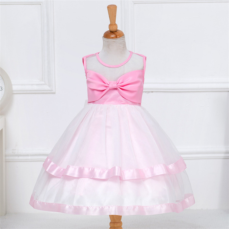 2017 Flower Baby Girl Christening Wedding Party Pageant Dress Newborn Infant First Communion Dresses Toddler Gown For Baby