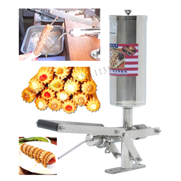 Churro Filler Machine Deluxe stainless steel churro filling machine capacity 5 liters chocolate jam and cream filler churro display warmer deluxe stainless steel churro showcase machine with heat food warmer and oil filter tray