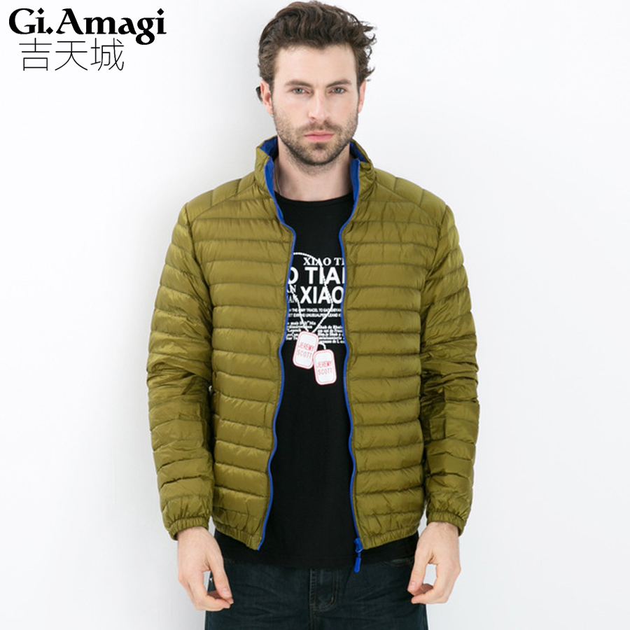 Mens Winter Jackets 2017 New Parka Coat Men High Quality White Duck Down Jacket Men Lightweight Down Jacket