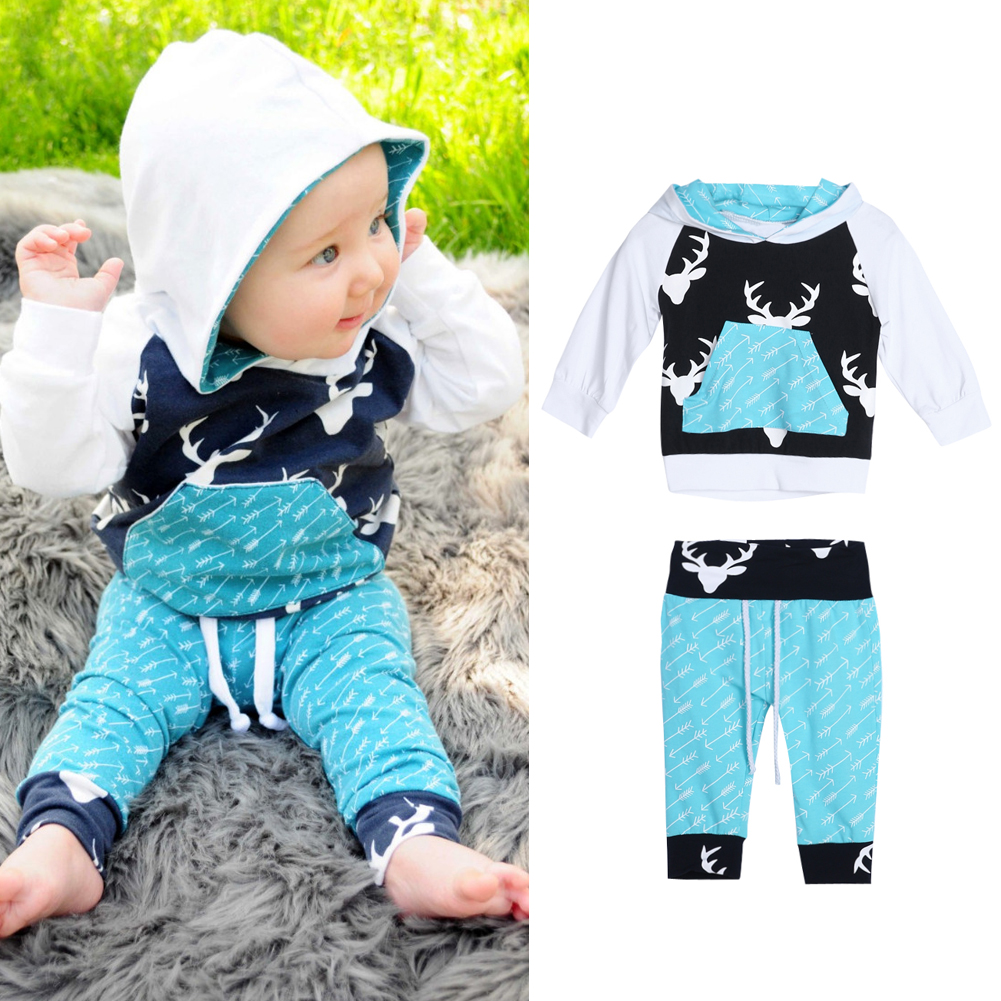 Baby Boys Clothing Sets Toddler Kids Long Sleeve Tops Clothes +Pants Trousers Outfit Set Casual Children Clothing Sets