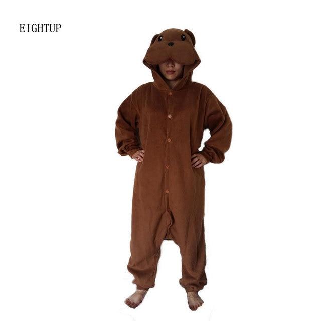 410fa40052 Animal Brown Dog Onesie Pyjamas Cosplay Costume Adult Unisex Pajamas  Sleepwear For Men Women