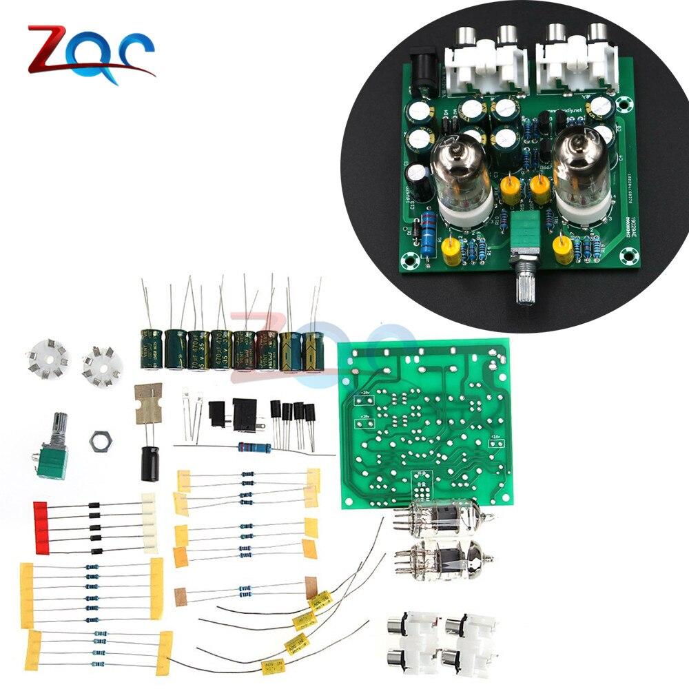 6J1 Tube Préamplificateur Casque Amplificateur de Puissance Puissance Amp Tube Tampon DIY Kit De Base sur Musique Fidelity X-10D Circuit
