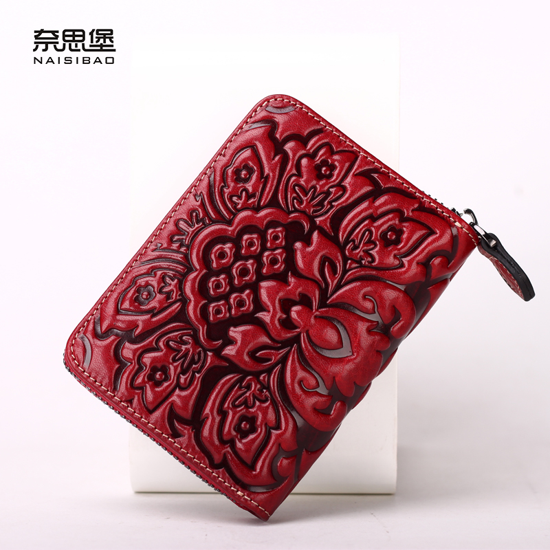 NAISIBAO women coin purse luxury mini wallet genuine leather wallets ladies purses vintage clutch card holder brand card holder 2017 hottest women short design gradient color coin purse cute ladies wallet bags pu leather handbags card holder clutch purse
