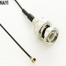 10 шт. BNC штекер для IPX/u. fl коннектор адаптер для антенны косичка кабель 1,13 мм 15 см черный