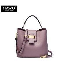 NAWO 2016 Designer Frauen Handtaschen Aus Leder Eimer Umhängetaschen Damen Crossbody Taschen Kleine Kuh Echte Echtem Letaher Frauen Taschen