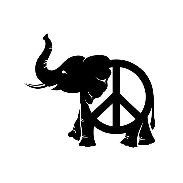 11 9 5 Cm Frieden Elefanten Aufkleber Auto Styling Tier Aufkleber