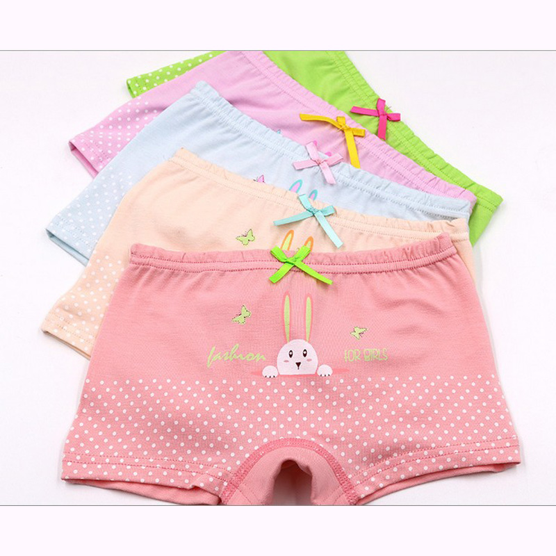 2017 hot sales new free shipping girls cotton boxer shorts panties kids character children underwear 2-9 years old 5pcs/lot