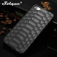 Real Genuine Leather Cover For IPhone 5 5S SE Cell Phone Luxury 3D Python Skin Design