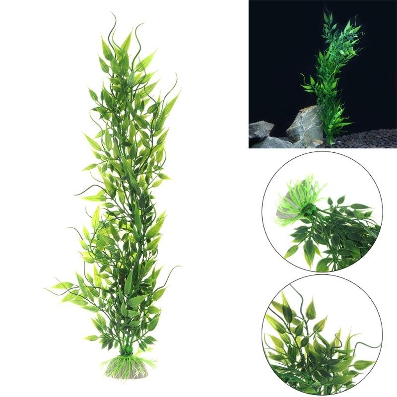1 Pc Grün Unterwasser Aquarium Dekoration Künstliche Wasser Pflanze Ornament Aquarium Gras SchöNe Lustre