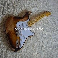 2019 новая + гитарная фабрика + relic chender электрогитара, винтажная китайская гитара в старом стиле.