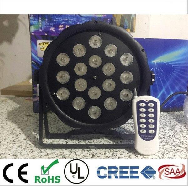50m Wireless control 18x8W RGBW 4in1 QUAD LED Flat Par led par light dj disco light