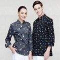 (5 con un 10% de descuento, 10 obtener delantal gratis) Hombre/mujer de manga larga camisa de trabajo ropa de trabajo uniforme desgaste uniforme del camarero chef ropa