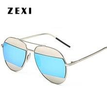 ZEXI Fashion Polaroid Sunglasses Men Polarized D Brand Aviator Glasses UV400 High Quality Driving Goggles 8184