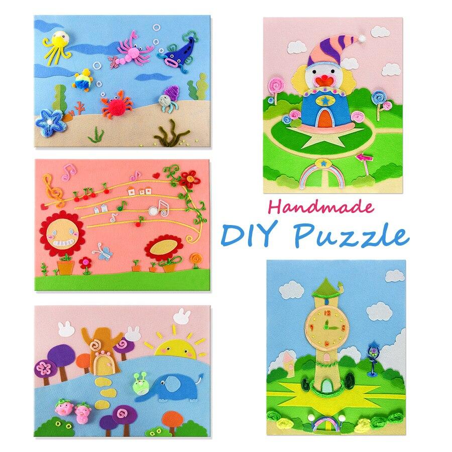 Cute Diy Felt Fabric 45x36cm Handmade 3d Sticker Puzzle Art Crafts
