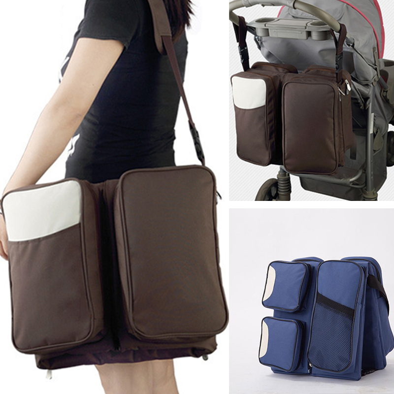 The  New Diapers Bags Mummy Travel Baby Bottle Cloth Case Large Space Baby 3 In 1 Portable Nappy Nursing Bag