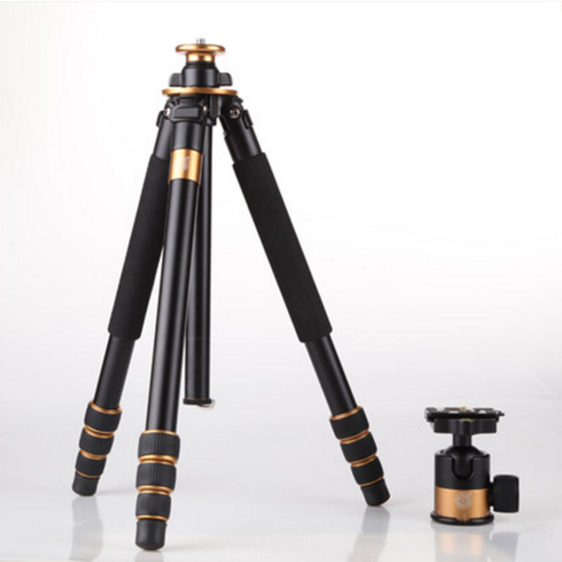 QZSD Q1000 Professional Photographic Tripod For SLR Camera Tripod + Ball Head Monopod Hight 1630MM Free Shipping Max Load 15kg free shipping qzsd q999 portable tripod