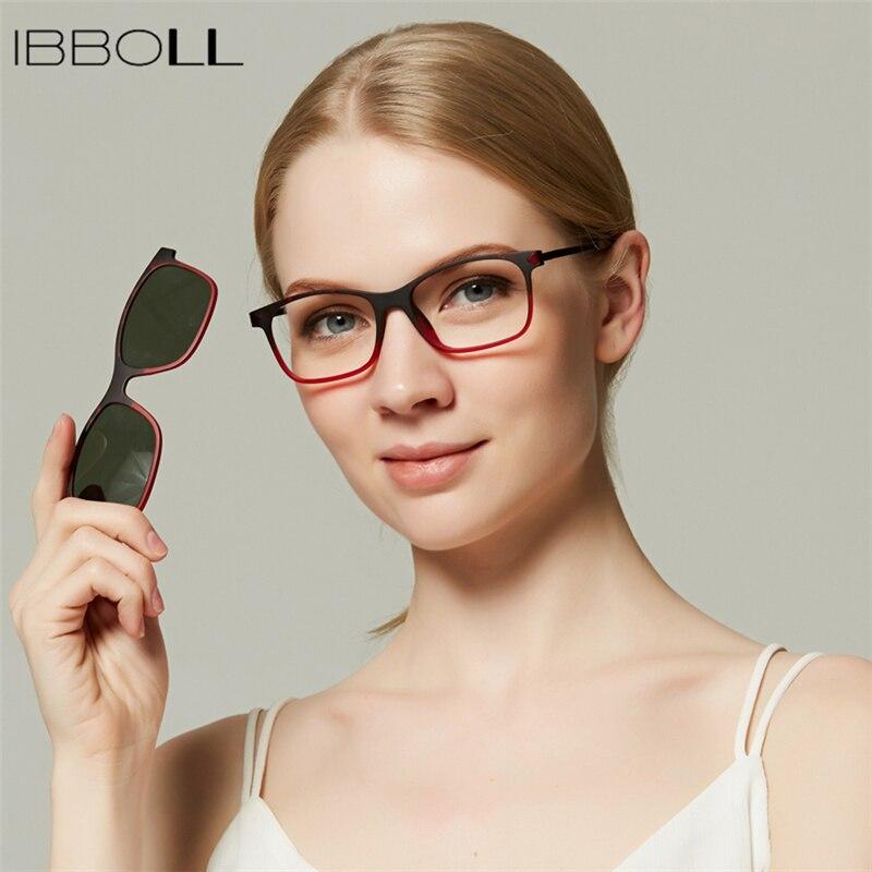 e965b4424ff9d ibboll Vintage Women Polarized Sunglasses Classic Pladtic Clip-on Sun Glass  for Womens Luxury Brand