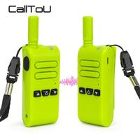 CallToU Mini Walkie Talkie Two Way Radio Communicator PTT Rechargeable Walkie Talkies UHF Frequency for Service System