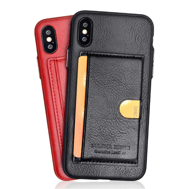 Rocketek luxury Leather Phone Case For iPhone X XR 7 8 Plus Holder/card pocket Case For iPhone 6 6s Xs max case
