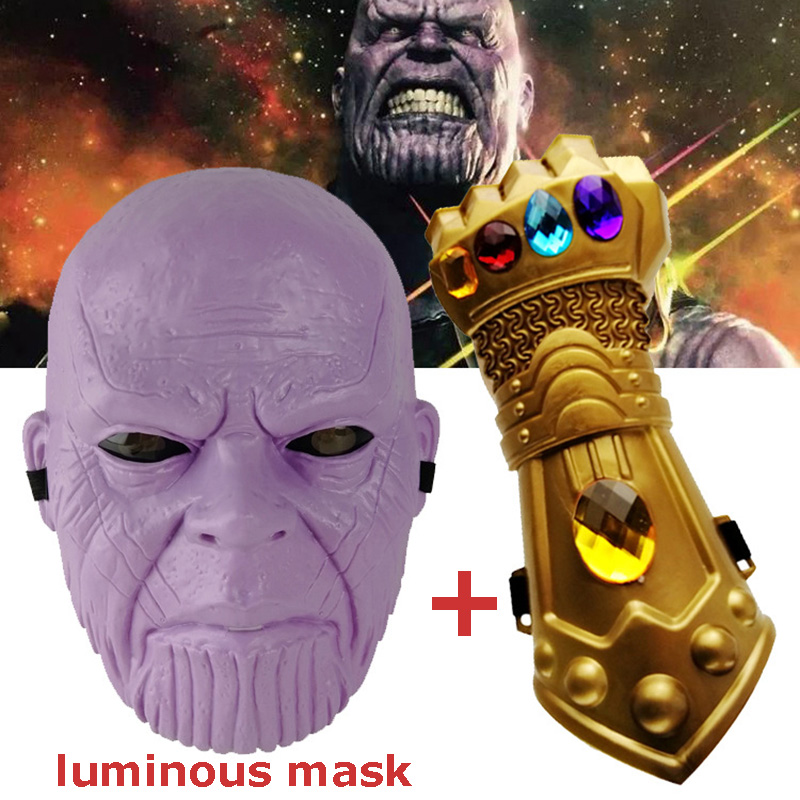 US SHIP Avengers Infinity War Thanos Mask Infinity Gauntlet Thanos Gloves Hot