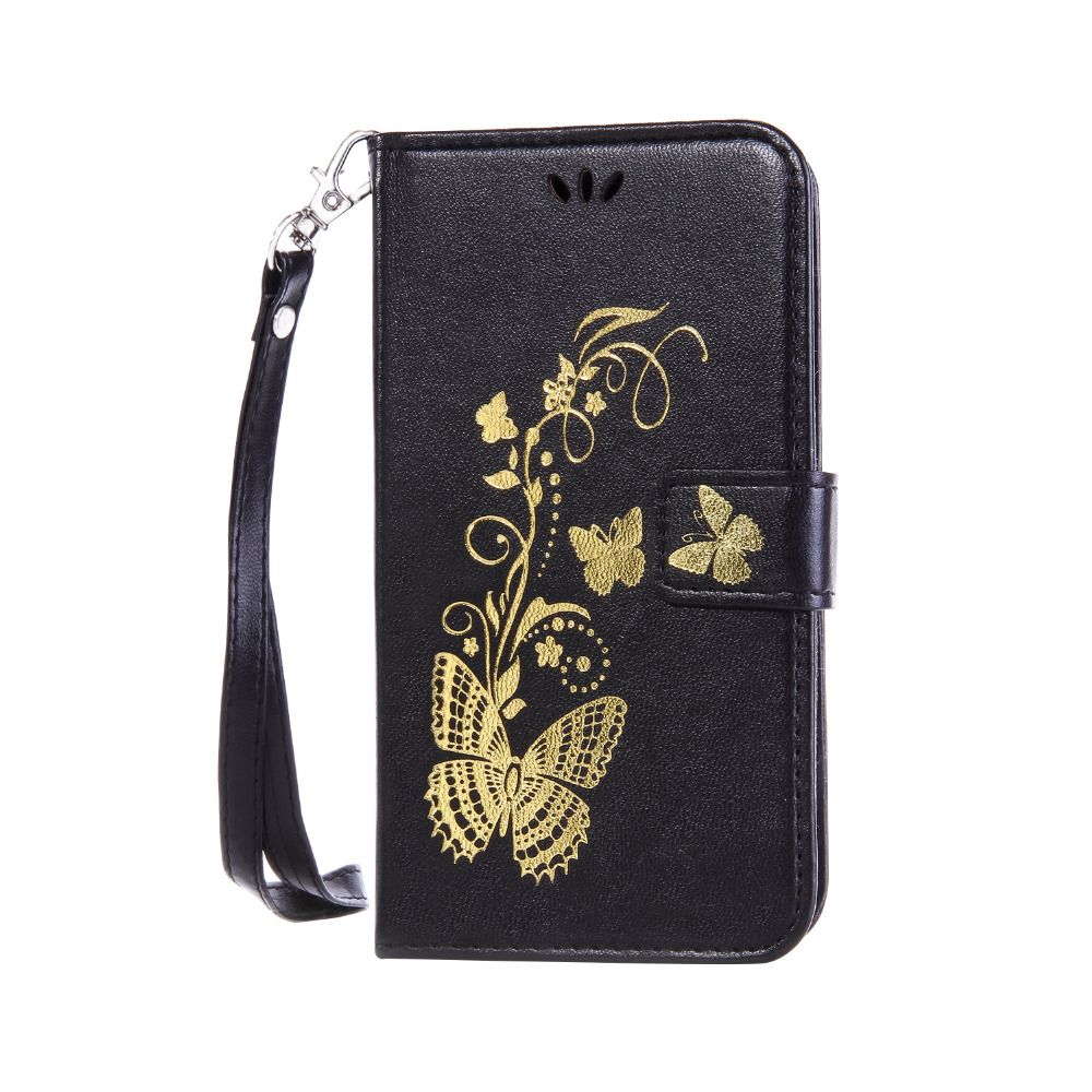for HTC Desire 816 Case 5.5 Luxury Bronzing Butterfly Leather Flip Silicone Phone Case For HTC 816 D816W Case Cover Fundas Coque