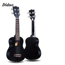 Ukulele UKU Black Mahogany Wood Ukulele 4 Strings Guitar 15 Frets Hawaiian Mini Guitar Instrument Ukelele