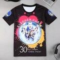 2017 Moda Verão Nova Homens Lazer Manga Curta Em Torno Do Pescoço T Camisa de Basquete Estrela Impressão 3D T-shirt Uniformes De Basquete