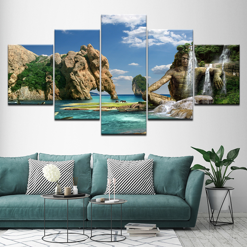 Canvas Painting Caribbean islands Caribs 5 Pieces Wall Art Painting Modular Wallpapers Poster Print for living room Home Decor