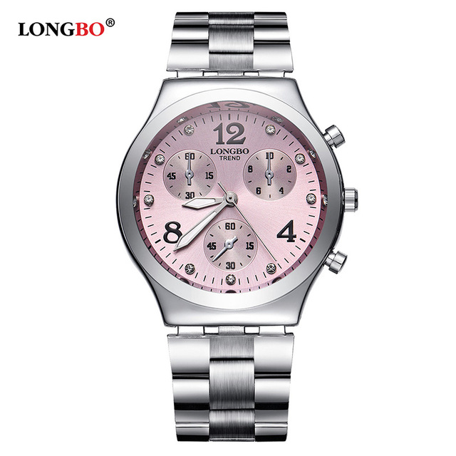 Fashion LONGBO Brand Luxury Waterproof Casual Quartz Watch Women Lady Gift Watches Waterproof Stainless Steel Watch Montre FemmeFashion LONGBO Brand Luxury Waterproof Casual Quartz Watch Women Lady Gift Watches Waterproof Stainless Steel Watch Montre Femme