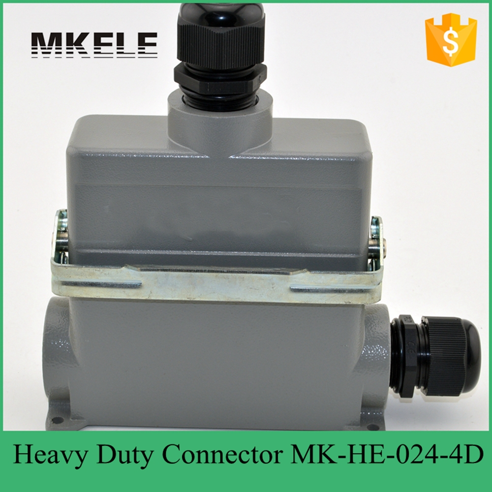 MK-HE-024-4D 16A terminal block power crimp plug heavy duty connectors for spinning and packing machine heavy duty connectors hdc he 024 1 f m 24pin industrial rectangular aviation connector plug 16a 500v