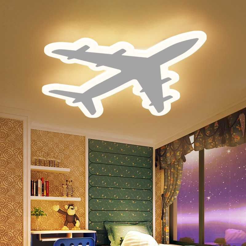 kinderkamer aircraf led plafondlamp eenvoudige moderne cartoon creatieve vliegtuig jongen en. Black Bedroom Furniture Sets. Home Design Ideas