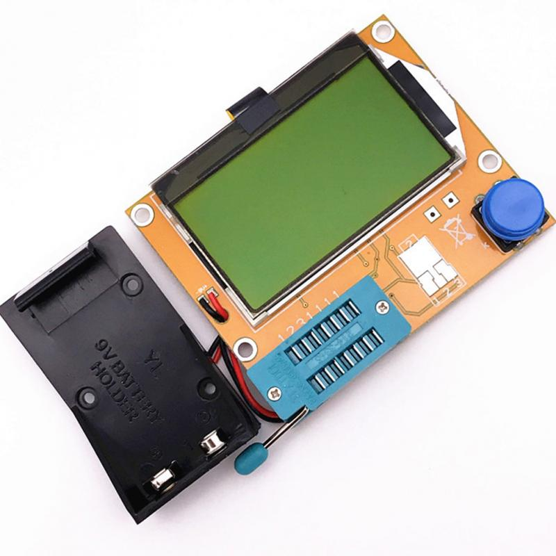 Imaging Diode Transistor Tester Resistor Diode Capacitor MOSFET Test Hook ESR Transistor Tester Multifunctional LCD For LCR-T4