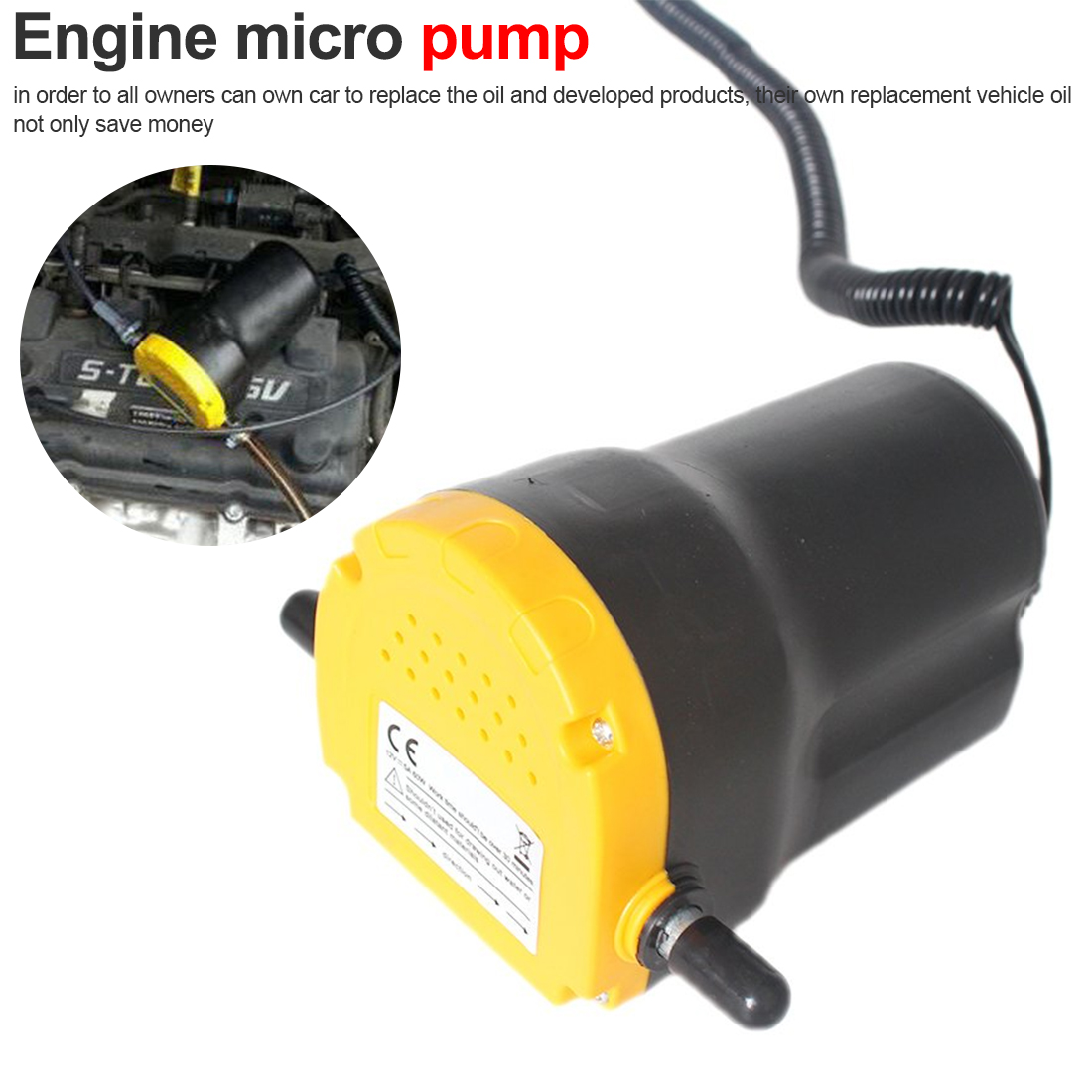Pompe à huile de moteur de voiture 24V 12V huile électrique/Diesel fluide puisard extracteur Scavenge échange transfert de carburant pompe d'aspiration bateau moto
