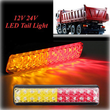 2pcs 24 Led Full Function Truck Trailer Stop Brake Tail Light 10-30V Waterproof Car Bus Lorry Light Assembly Yellow Turn Signal custom bus stop shelters bus stop design bus station