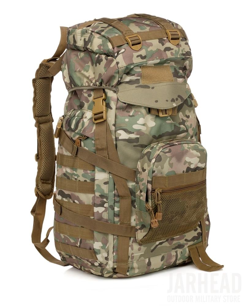 Ao ar livre tático mochila 60l militar