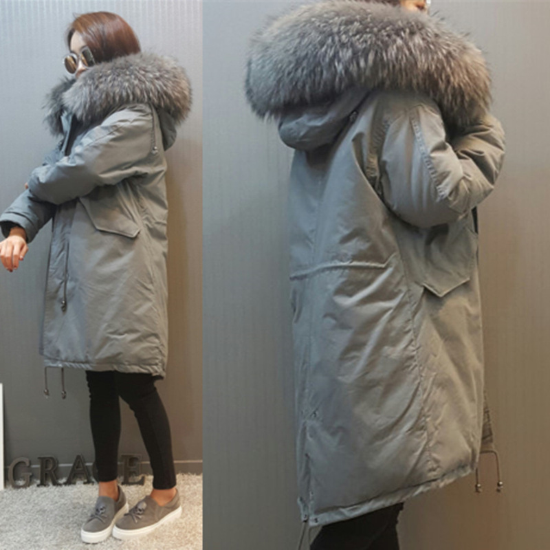 2017 New Women Winter Long Jacket Faux Fox Fur Collar Hooded Woman Parka Womens Cotton Padded Coats Casual Thick Jacket new 2017 winter autumn cotton long coats jacket women hooded padded parka