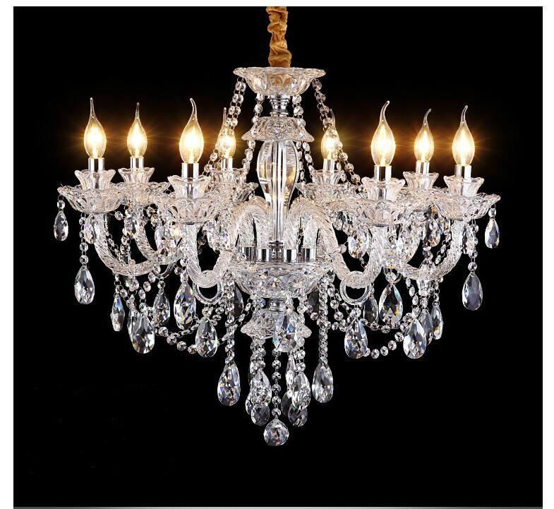 Frete grátis claro lustre de cristal sala