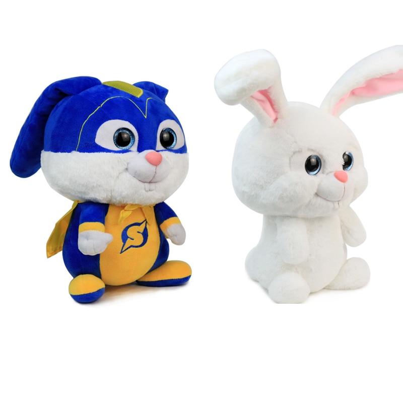 2019 Movie 30cm The Secret Life of Pets 2 Captain Snowball Plush Doll Stuffed Toys Rabbit Doll Birthday Christmas Gift for Kids